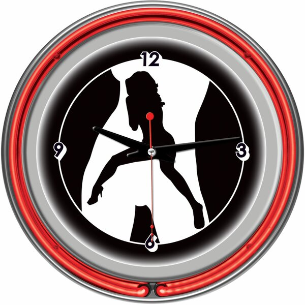 14.5 Shadow Babes Series Series Wall Clock by Trademark Global