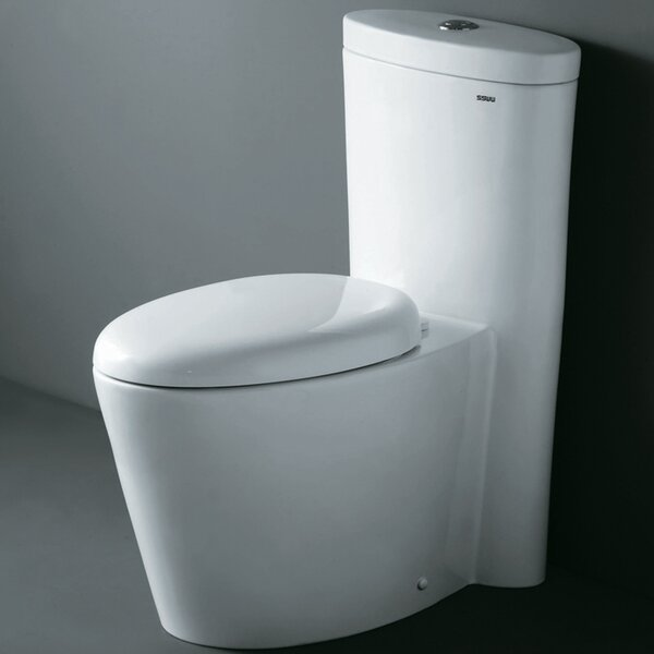 Monterey Contemporary Dual Flush Elongated One-Piece Toilet by Ariel Bath