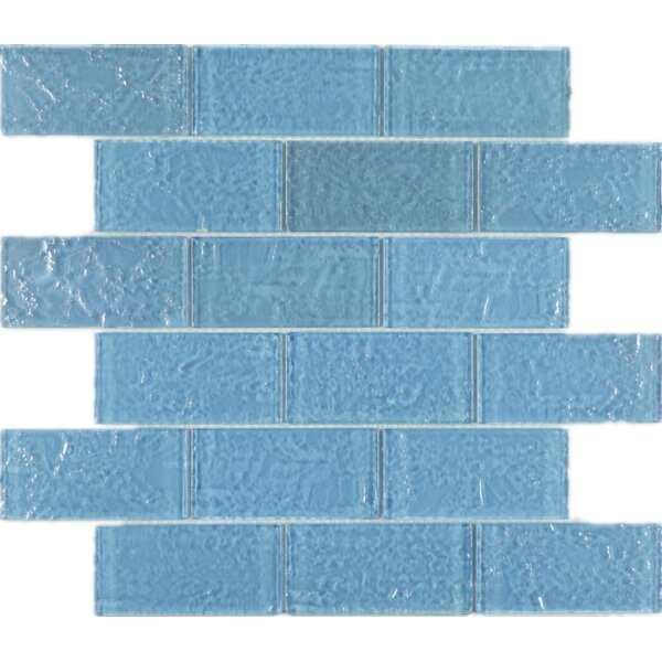 2 x 4 Glass Mosaic Tile in Blue by Multile