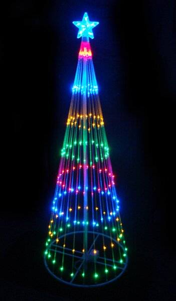 Decorative Led Light Show Cone Christmas Tree Lighted Display