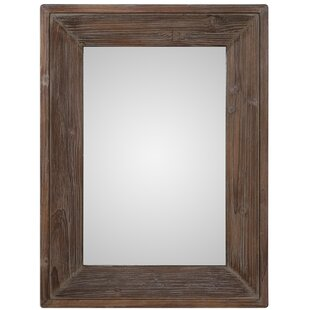 Laurel Foundry Modern Farmhouse Retangle Brown Wall Mirror