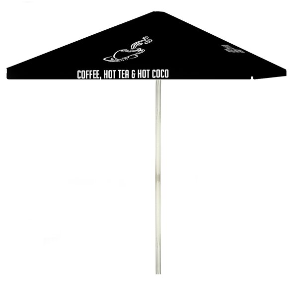 Coffee 6' Square Market Umbrella By Best Of Times