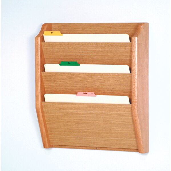 Three Pocket Legal Size File Holder by Wooden Mallet