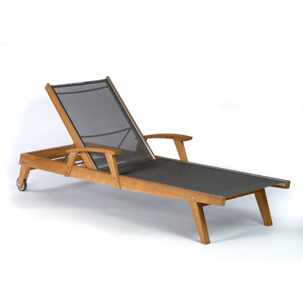 Earls Reclining Teak Chaise Lounge
