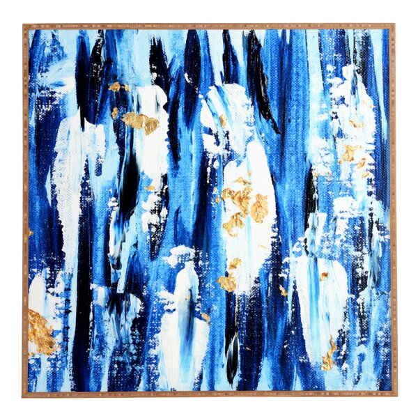 Indigo Abstract Framed Graphic Art by East Urban Home
