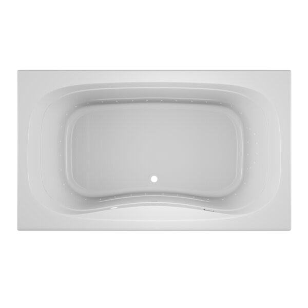Signa Right-Hand 72 L x 42 W Drop In Pure Air Bathtub by Jacuzzi®