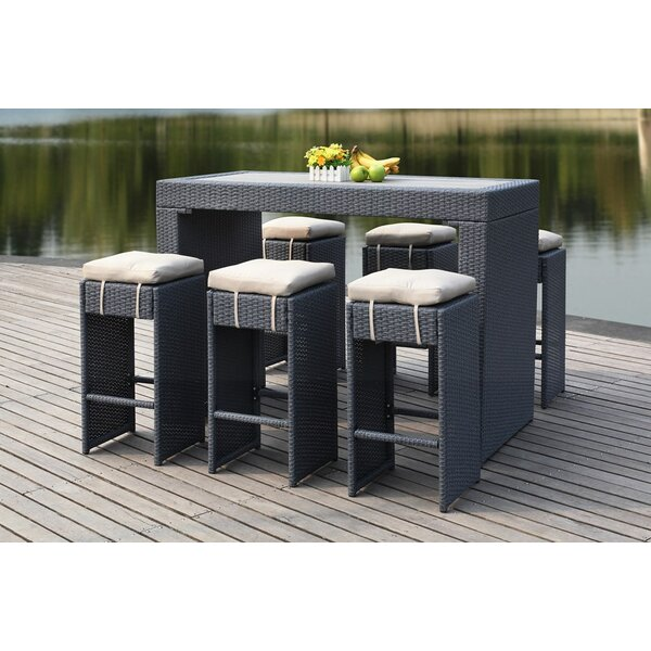 Motter 7 Piece Bar Height Dining Set by Brayden Studio