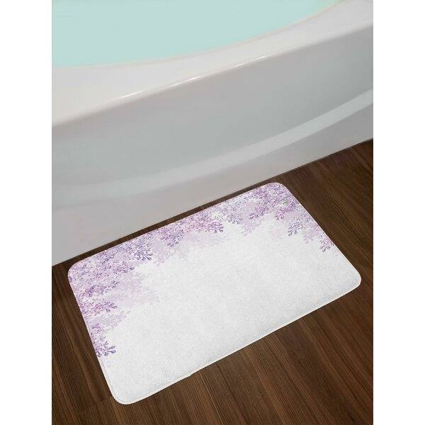 Framing Lilac Flowers in Blossom Vernal Season Soothing Color Shades Bath Rug by East Urban Home