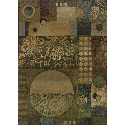 Sabanc Floral Blue/Beige Area Rug by Red Barrel Studio