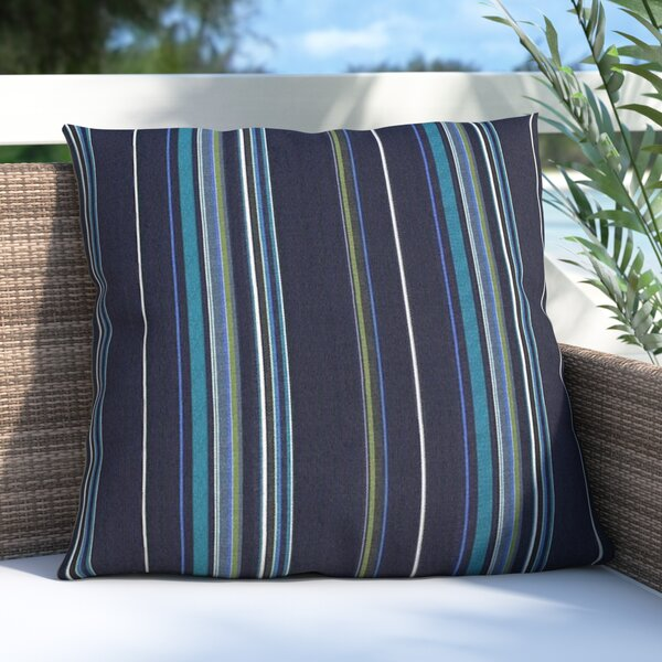 Davida Outdoor Sunbrella Throw Pillow by Beachcrest Home