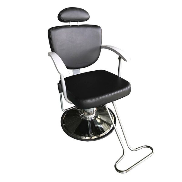 Adjustable Hydraulic Barber Salon Reclining Massage Chair By Symple Stuff