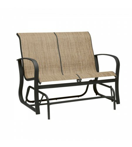 Fremont Sling Gliding Loveseat by Woodard