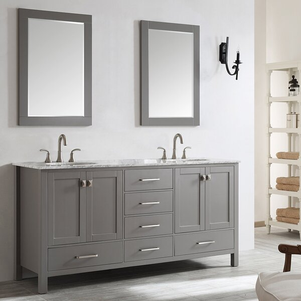 Newtown 72 Double Vanity Set with Mirror by Beachcrest Home