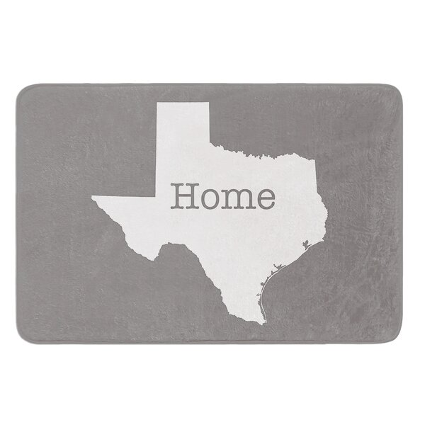 Texas Is Home by Bruce Stanfield Bath Mat by East Urban Home