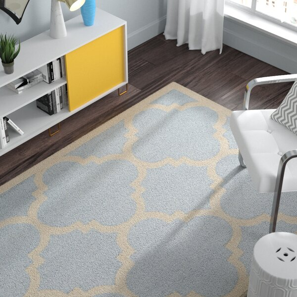 Charlenne Hand-Tufted Light Blue/Ivory Area Rug by Zipcode Design