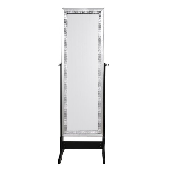 Pizzazz Full Length Jewelry Armoire with Mirror by Inspired Home Co.