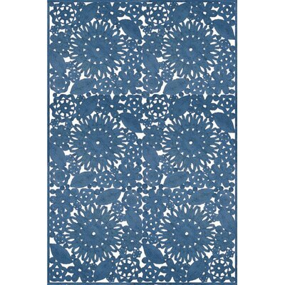 Lanier Floral Handmade Flatweave Blue Area Rug Lark Manor Rug Size: Rectangle 2' x 3'