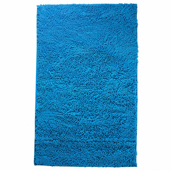 Kingsland High Pile Shag Accent Blue Area Rug by Ebern Designs