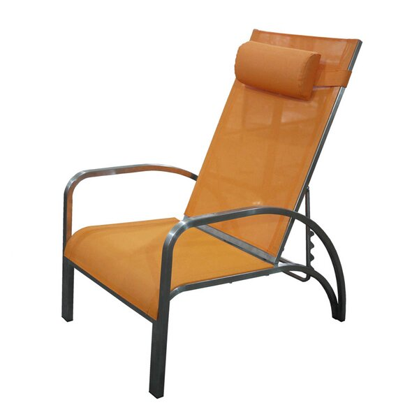 Siesta Lounge Chair with Cushion by 100 Essentials