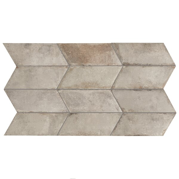 Relic Chevron Left 5.5 x 12.75 Porcelain Field Tile in Grigio by EliteTile