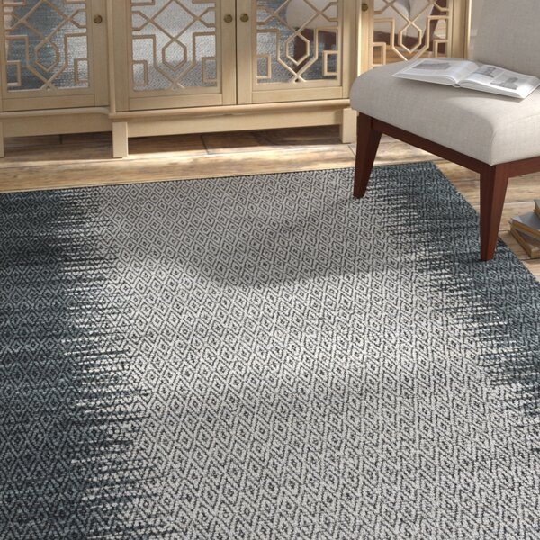 Swayze Contemporary Hand Tufted Gray Area Rug by Mistana