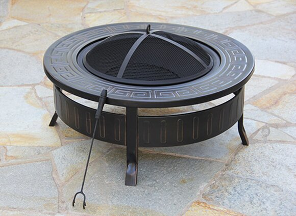 Steel Wood Burning Fire Pit by Fire Pit Essentials