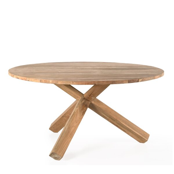 Newfields Solid Wood Dining Table by Rosecliff Heights