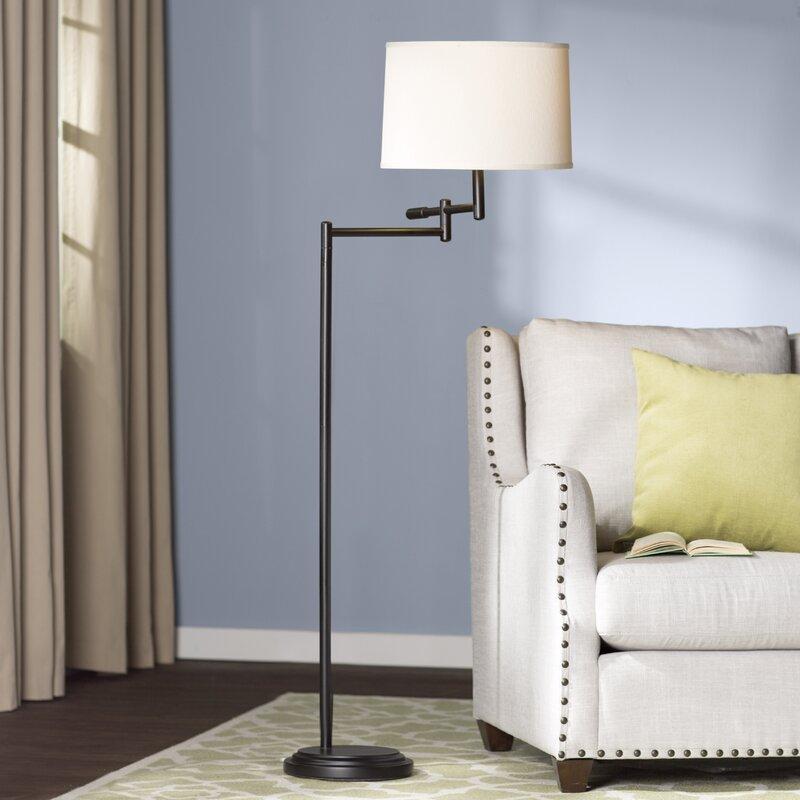 Alcott hill bethesda 60 swing arm floor lamp reviews wayfair bethesda 60 swing arm floor lamp aloadofball Images