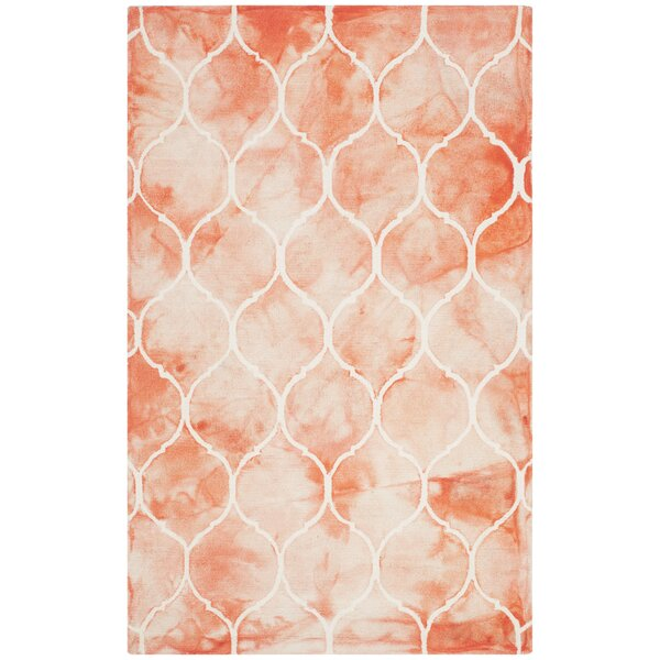 Jawhar Hand-Tufted Orange/Ivory Area Rug by Bungalow Rose
