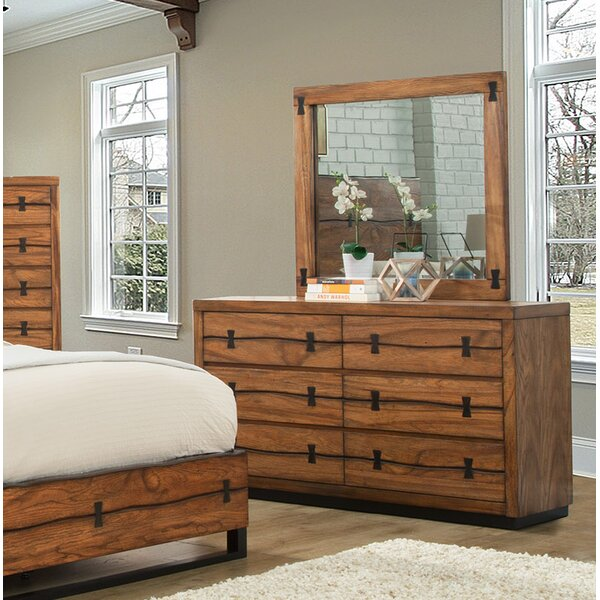 Migdalia 6 Drawer Double Dresser with Mirror by Loon Peak