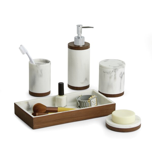 Icon 5 Piece Bathroom Accessory Set by Paradigm Trends