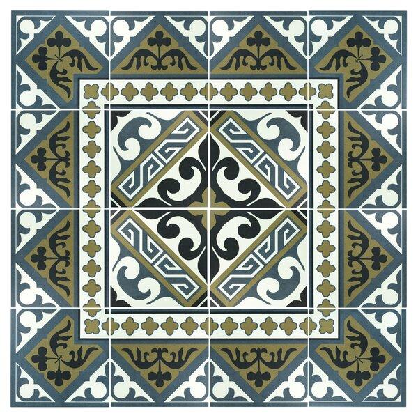 Seni Versalles 9.75 x 9.75 Porcelain Field Tile in Blue by EliteTile