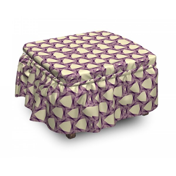 Graphic Tile Triangle Ottoman Slipcover (Set Of 2) By East Urban Home