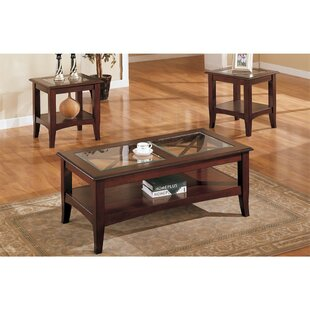 Holte Wooden 3 Piece Coffee Table Set with Glass Top  sc 1 st  Wayfair & Coffee Table Sets Youu0027ll Love | Wayfair
