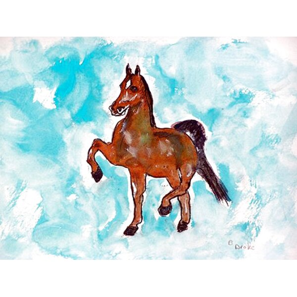 Dancing Horse Placemat (Set of 4) by Betsy Drake Interiors