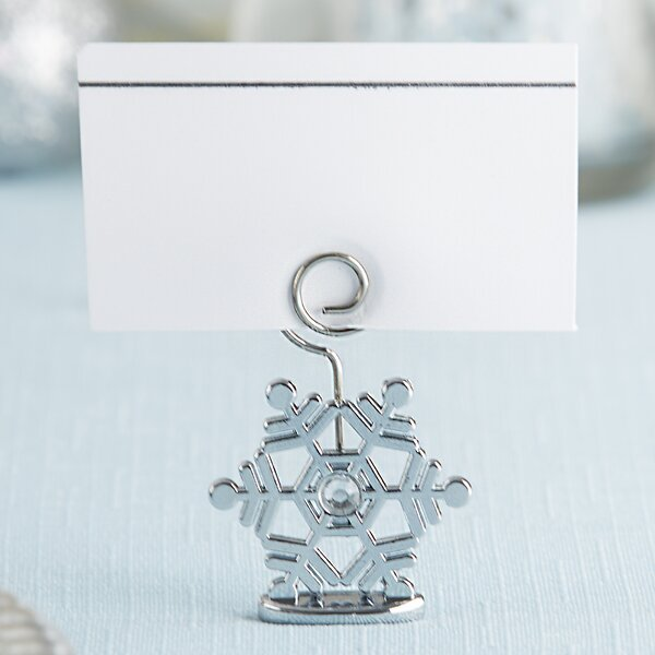 Sparkling Snowflake Place Card Holder (Set of 6) by Kate Aspen