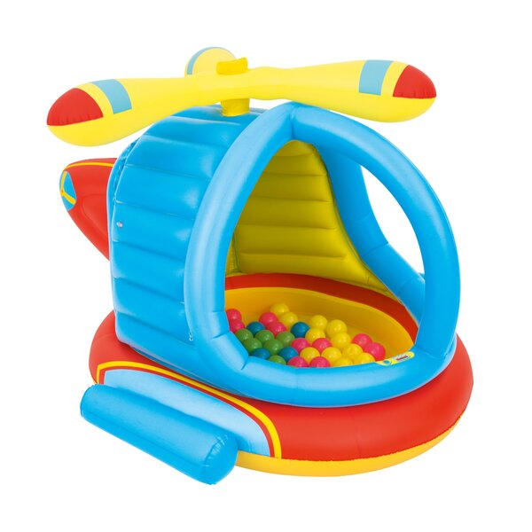 Up In And Over Helicopter Ball Pit Bounce House Set Of 51 By Bestway.