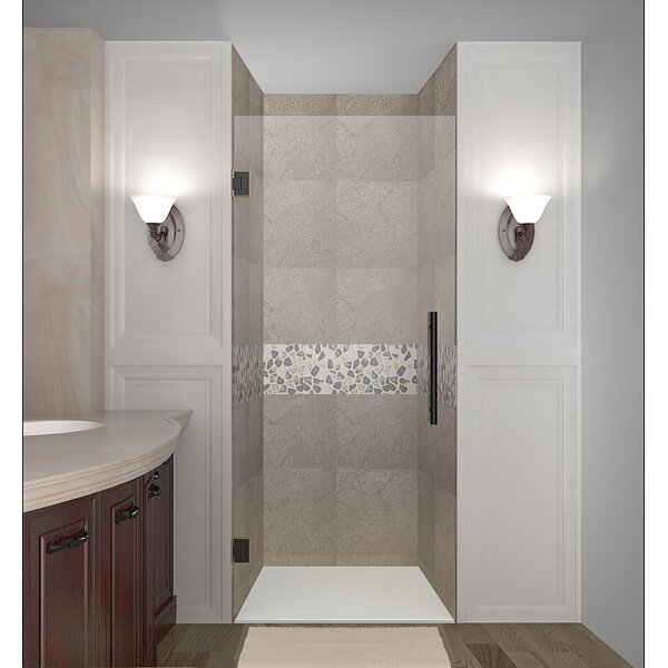 Cascadia 22 x 72 Hinged Completely Frameless Single Panel Shower Door by Aston