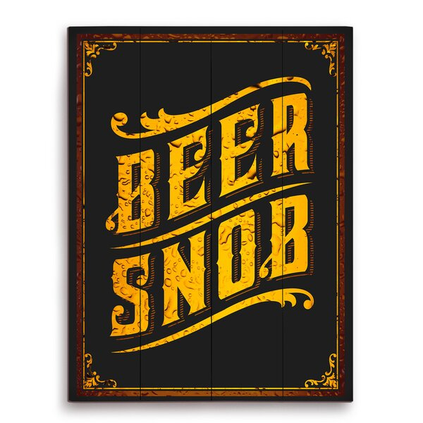 Beer Snob Textual Art Plaque by Click Wall Art