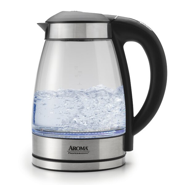 1.7 Liter Glass Electric Tea Kettle by Aroma