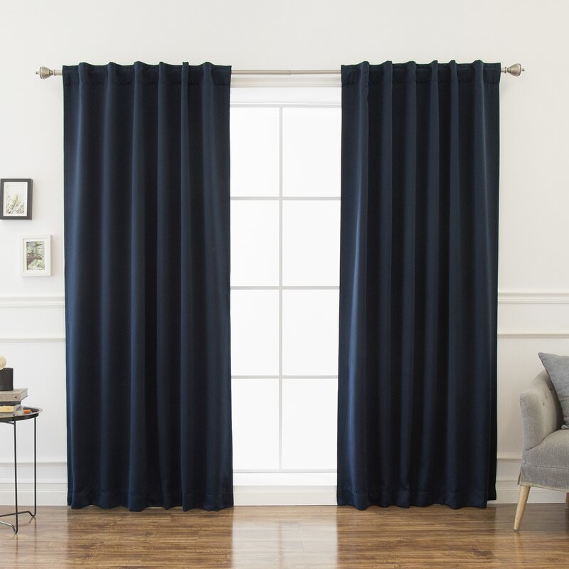 Sweetwater Blackout Solid Thermal Curtain Panels Amp Reviews