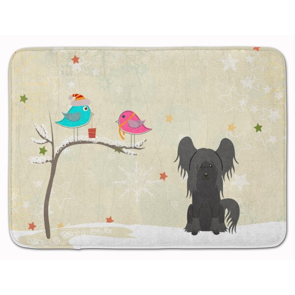 Silloth Christmas Chinese Crested Memory Foam Bath Rug
