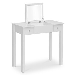 Derby Vanity Table with Mirror by Alcott Hill