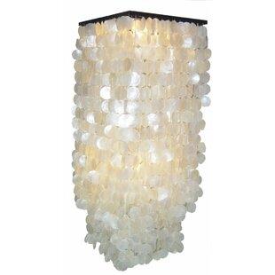 capiz shell ceiling light wayfair co uk