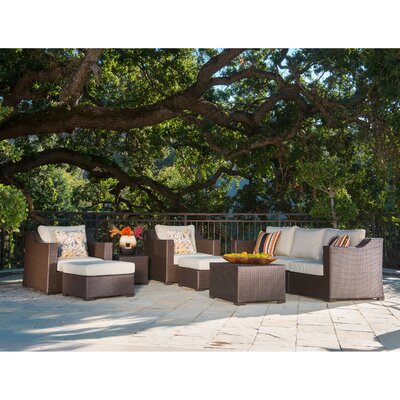 Bayou Breeze Patio Rattan Sectional Seating Group Cushions Seating Groups