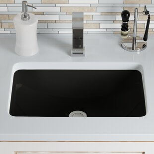 Great choice Vitreous China Rectangular Undermount Bathroom Sink with Overflow ByMR Direct
