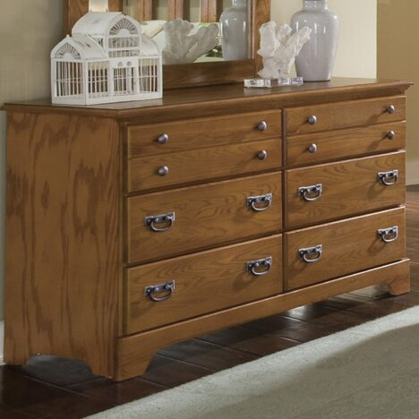 Creek Side 6 Drawer Double Dresser by Carolina Furniture Works, Inc.