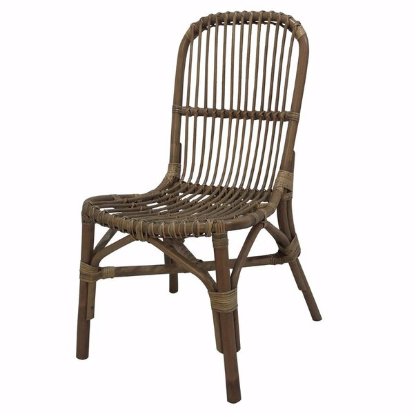Skeens Elegantly Charmed Rattan Pole Side Chair by Bay Isle Home