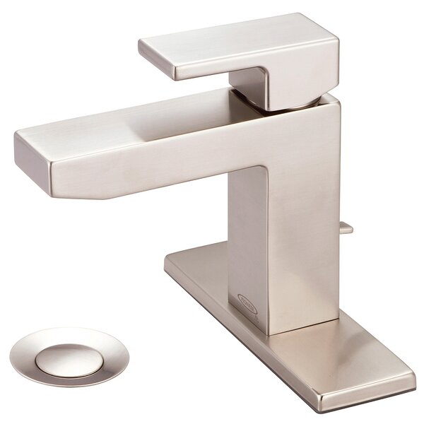 Mod Single Hole Bathroom Faucet with Deck Cover Plate by Pioneer
