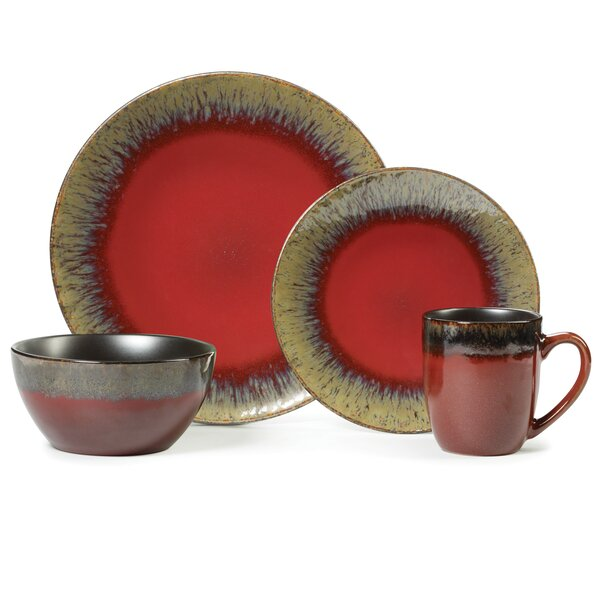 Calder 16 Piece Dinnerware Set, Service for 4 by Gourmet Basics by Mikasa